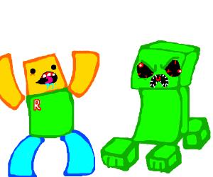 Roblox Vs Minecraft Minecraft Is Better Btw Drawception