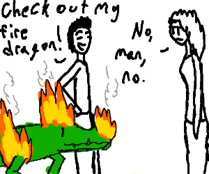 Your firedragon is clearly a alligator on fire