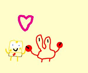 Sponge boob and mr crab alone cause love drawing by pirate stink sponge boob and mr crab alone cause love voltagebd Gallery