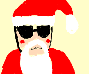"Santa with ""way cool shades"""
