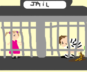 Jail: a man with diarrhea and a girl