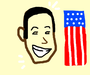Obama's face