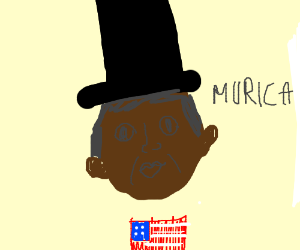 Top Hat President Barack Obama says 'Murica