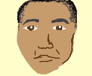 Beautiful facial portrait of Obama