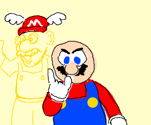 Metal mario with Flying Cap And Gold Mario in