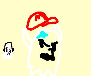 Mario's ghost removes his cap & Mario is bald