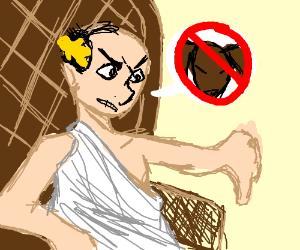 Emperor Palpatine attacks dots w/ light saber