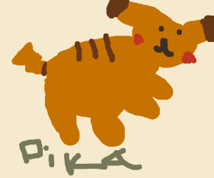 pikachu use electro dash in the coler orange