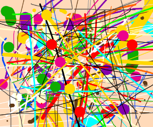 Dots and Lines: An abstract art piece