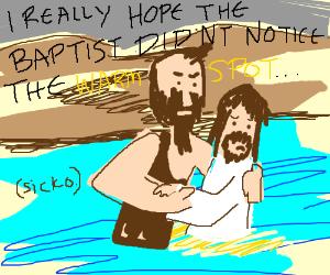 jesus peed himself