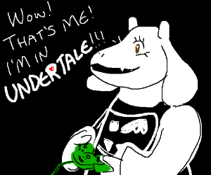 Toriel realizes that she's in a video game