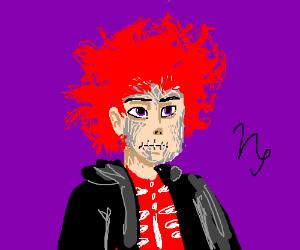 Humanstuck Kurloz Makara w/ red shirt/hair