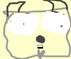 Wide-eyed goat