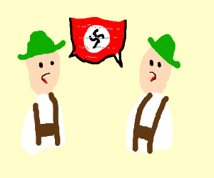 Germans speaking secret nazi code