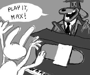 sam enjoys max's piano performance
