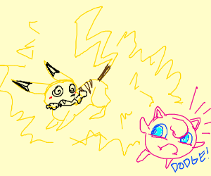 Rabid Pikachu Tries to Attack Jigglypuff