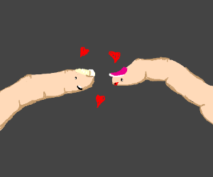Fingers love Each Other