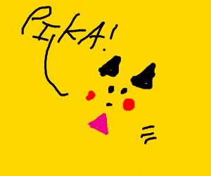 the scream of pikachu