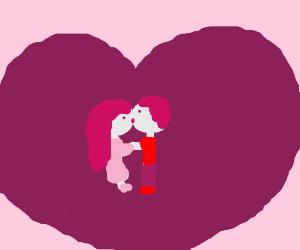 eww, Valentine's Day kissy-face