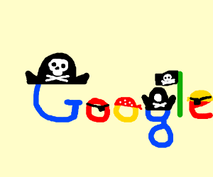 Google gets pirated in an unusual way