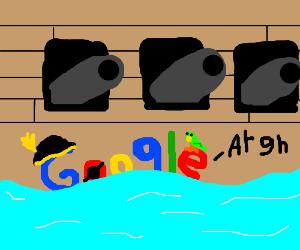 Google pirate theme