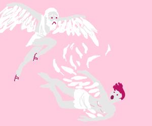 Daedalus is sad that Icarus fell