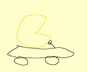 Pacman driving car