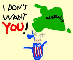 Americans can't conprehend Australia