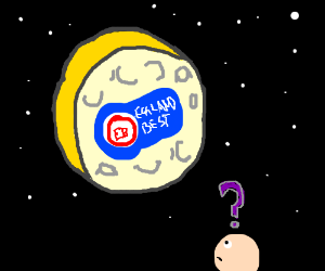 Why is Eggland's Best logo on cheesy moon?