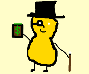 Mr peanut holds your wallet