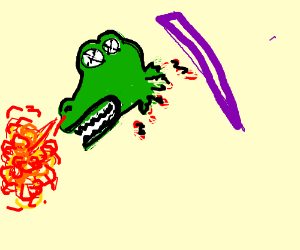 Dragon beheaded by magic laser