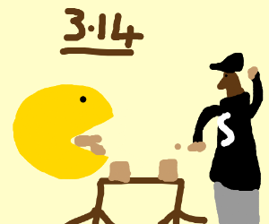 pacman & snoop dog on a pie eating contest