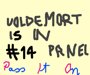 Look out! Voldemort is hiding in #14 panel pio
