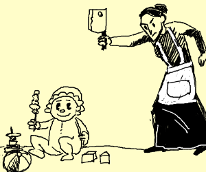 Babysitter stabs toddler