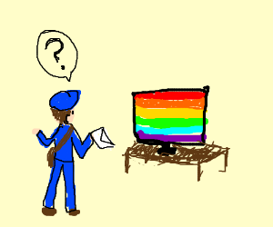 mail man does not understand gay tv