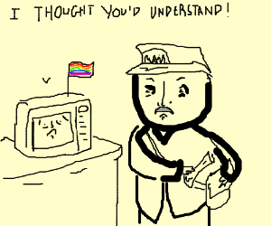 Mustachio'd mailman hate his gay microwave