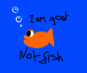 """""""I am a goat, (totally not a fish)"""""""