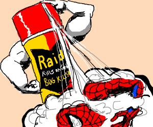 Use RAID to kill Spiderman