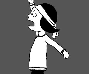 Marjane Satrapi As A Child In Persepolis Drawception
