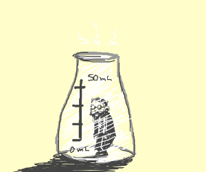 Erlenmeyer in his flask.