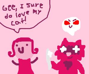 Girl loves Psycho Kitty