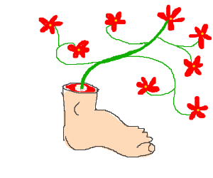 """Um... is your """"vase"""" a severed human foot?"""