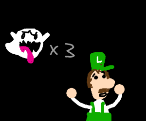 Luigi is attacked by ghosts!