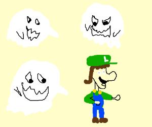3 ghost following luigi