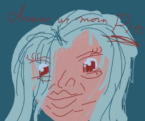 Happy Birthday mom! (drawing of ur mom)