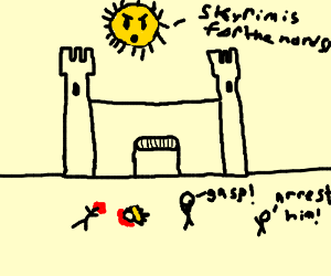 The Sun! It's decapitated our King!