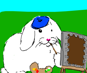 Artistic bunny