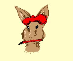 Rabbit is an artist