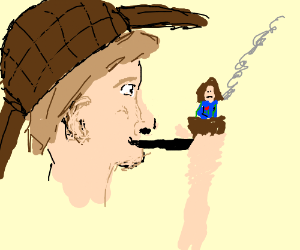 sherlock smoking a pipe and hermione