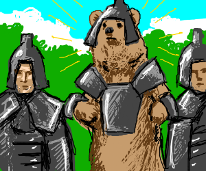 My Lord, that knight is just a disguised bear!